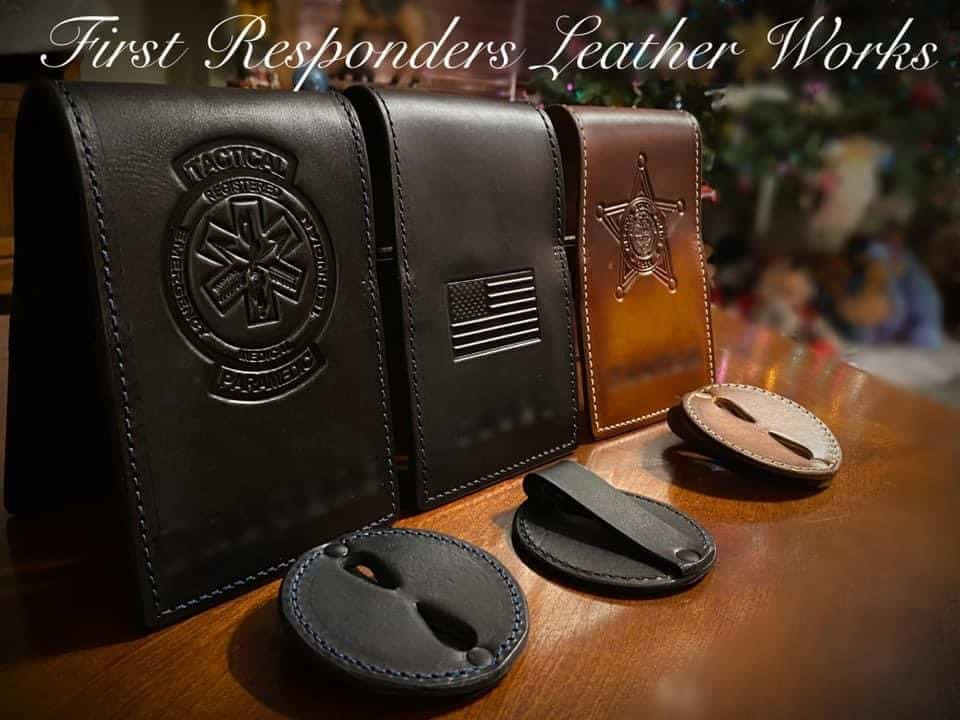 3 notebooks and badge holders collection